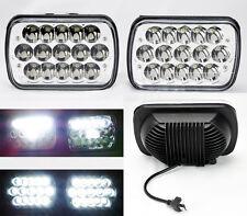 "7x6"" 15 Epistar ALL LED 45W 6000K Glass Lens Headlight Conversion JEEP"