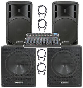 qtx 2000w 10 channel active live band pa system with usb mixer ebay. Black Bedroom Furniture Sets. Home Design Ideas