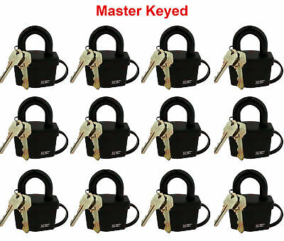 "2019 New Style 12 Master Keyed Weather Resistant Padlocks 2-1/2"" 64mm Elegant And Sturdy Package"