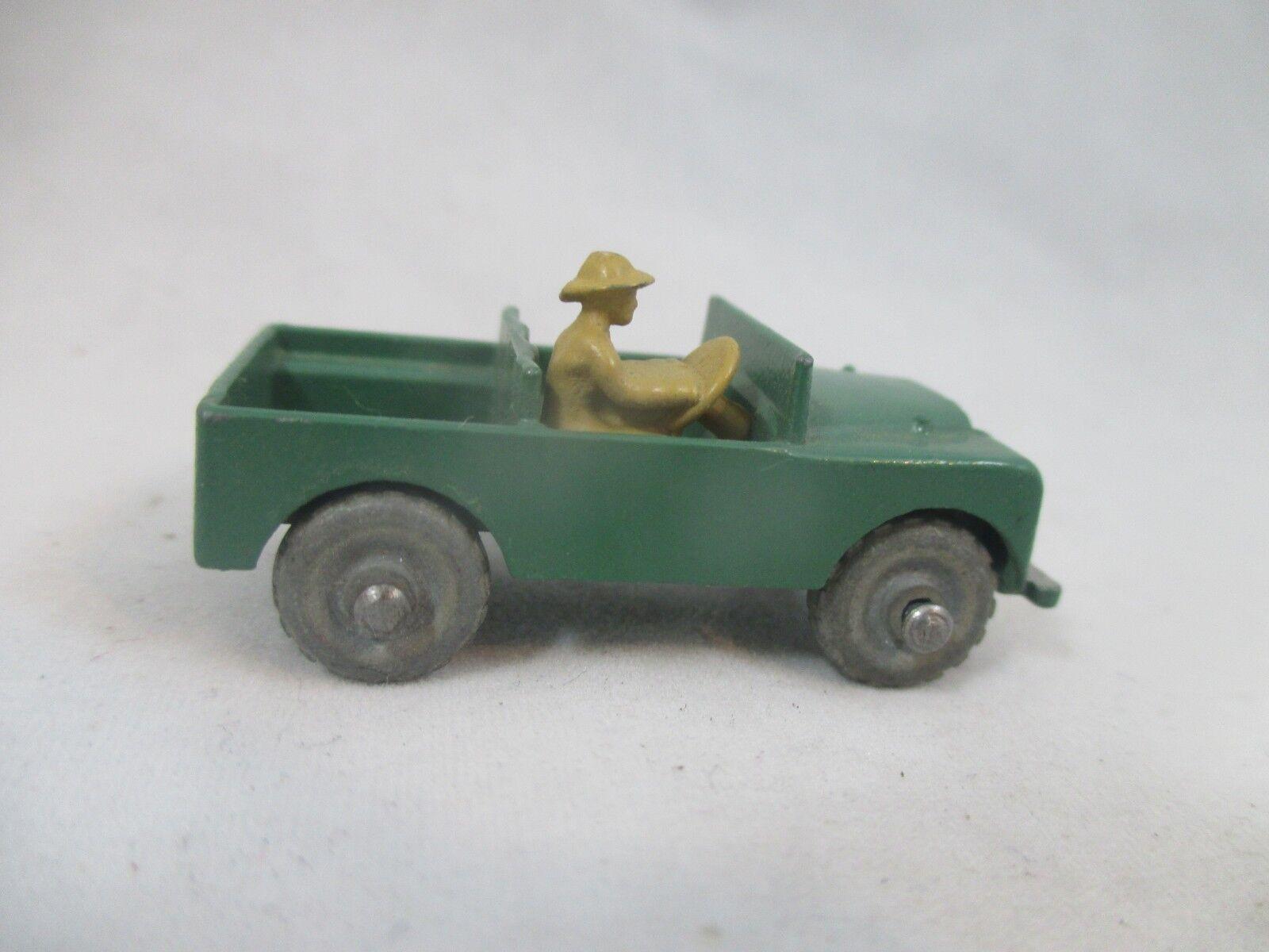 online barato Lesney Lesney Lesney Matchbox Metal Wheels RARO Militar Ejército Land Rover Jeep  toma