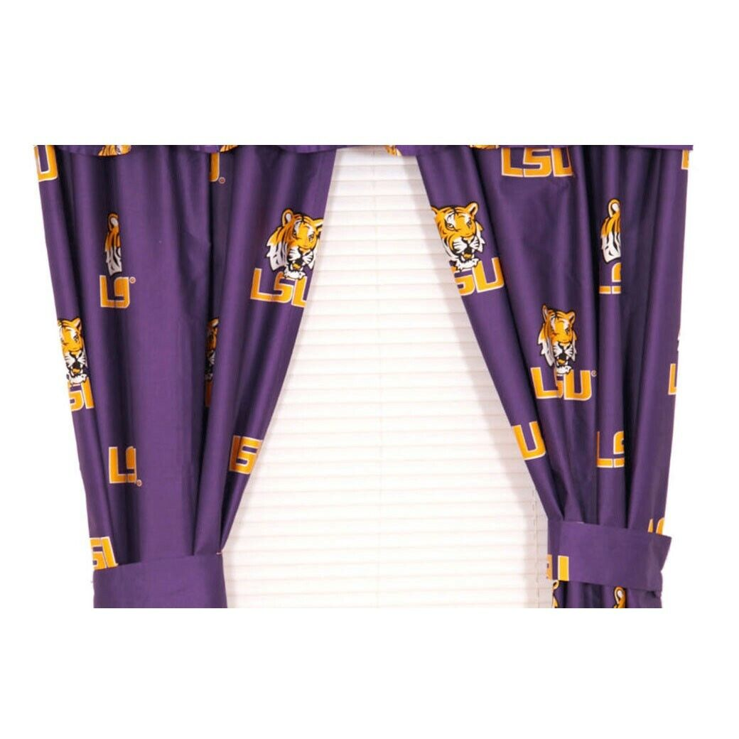 College Covers Michigan State Spartans 63 Curtain Panels Set with Tiebacks 42 x 63 Team Colors