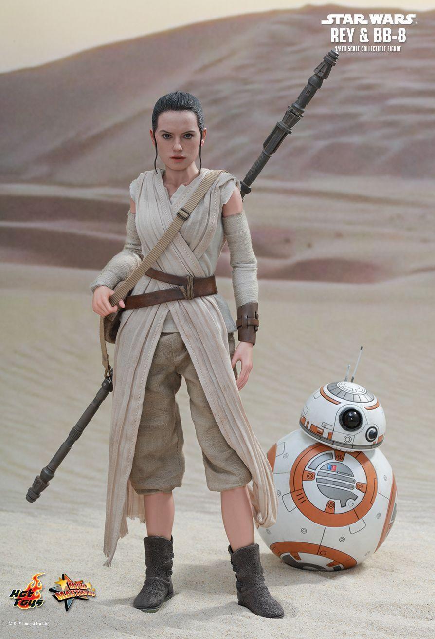 Hot Toys 1 6 Star Wars EP VII 7 The Force Awakens Rey & BB-8 MMS337 Japan