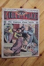 Rarissime L' OEIL DE LA POLICE 2A/6 Fin Tragique d' une Idylle