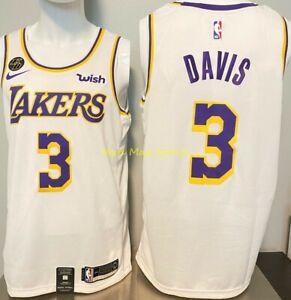 Details about ANTHONY DAVIS Los Angeles LAKERS Nike WISH White KOBE KB Patch Swingman Jersey