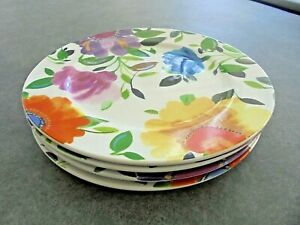 Set-of-4-Mikasa-Kim-Parker-Provence-Garden-Salad-Plates-8-1-4-034-Wide