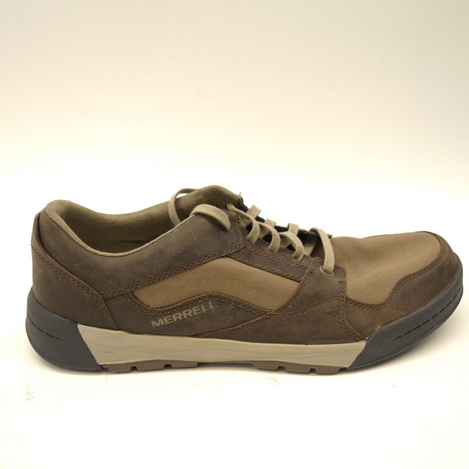 Merrell Hombre Berner Shift Encaje Cuero Deportivo Senderismo zapatos Us 12 Eu
