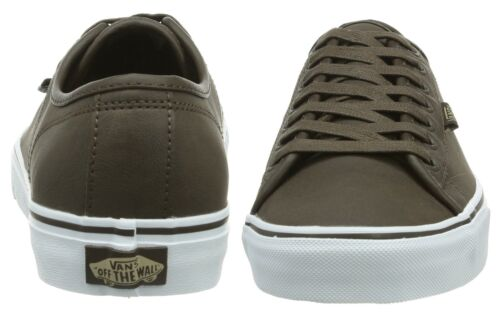 Trainers Buck Low Mens Vans Leather Skater Shoes Brown Ferris White Plimsolls PwvOFqxI6