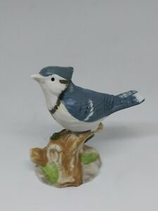 Ceramic Blue Jay Bird Figurine Royal Heritage