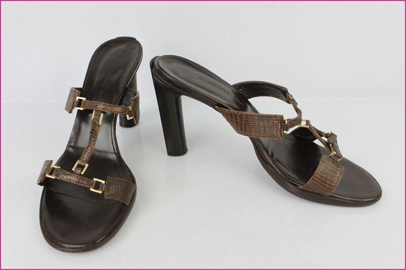 Mules Sandales Sandales Sandales BARBARA BUI Tout cuir marrón T 40 TBE  promociones de descuento