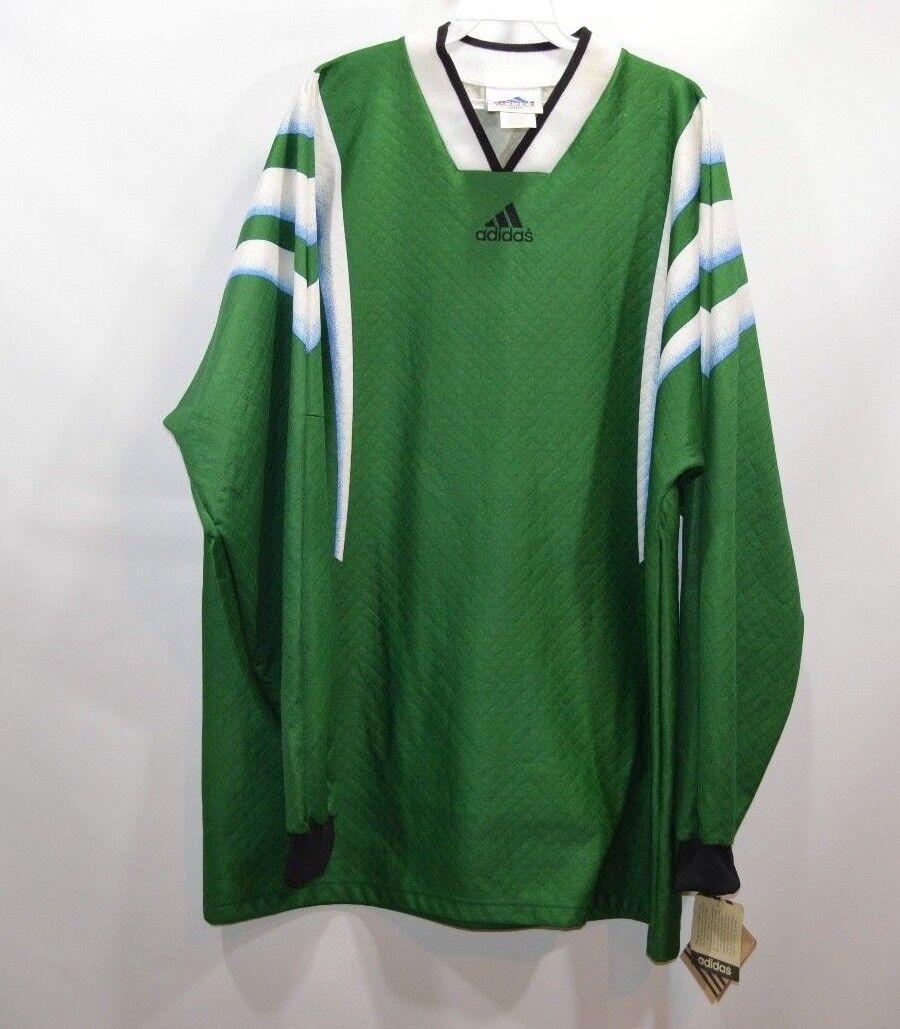 Nuovo Vintage 90s Adidas da Uomo XL Spell Out Messico Coppa Del Mondo Manica