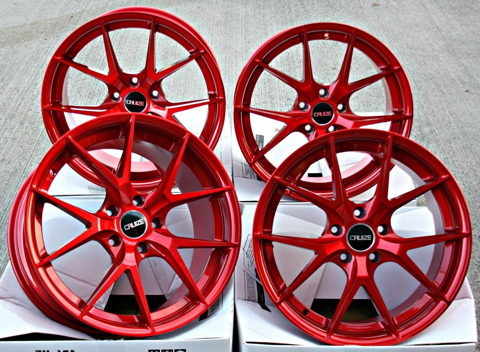 Alloy Wheels 19 Cruize Gto Cr Candy Red Concavt Staggered 19 Inch 5x120 Alloys For Sale Online Ebay