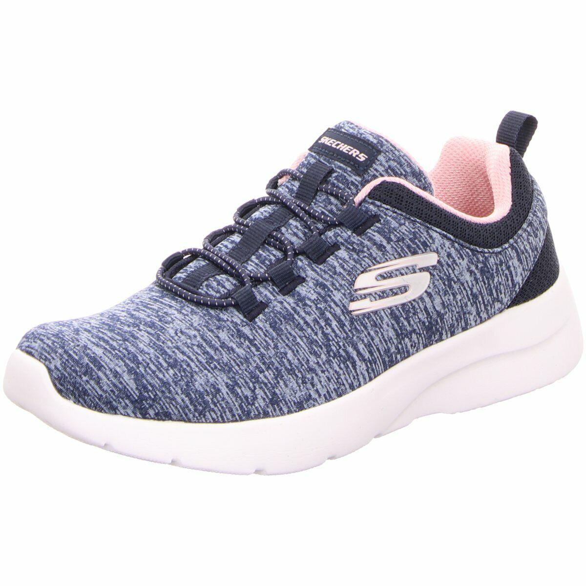 Skechers Damen Sportschuhe Slip on 12695//NVPK blau 547133