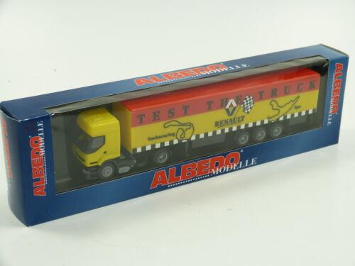 """Albedo 1:87 H0 Renault Truck mit Auflieger /""""Test the Truck/"""" SELTEN !! OVP E999"""