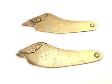 2 Vintage Brass Furrier Pelt, Leather, Fur Cutting Knives