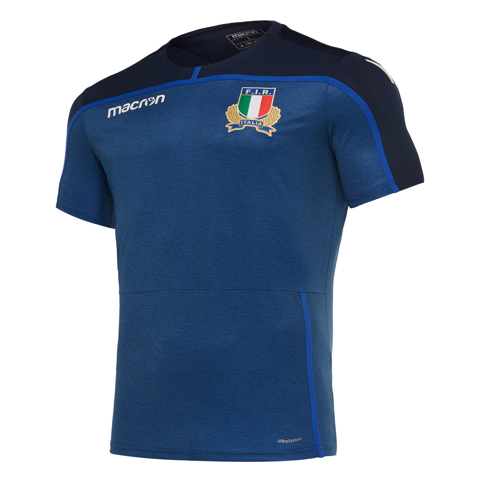 ITALY RUGBY MACRON - OFFICIAL PLAYER SHIRT - SEASON 2018 19