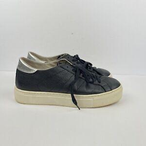 Cerebro pedir Montón de  Steve Madden Eu 40 (US 10) премиум кроссовки кожаные черные серебристые  туфли на платформе | eBay