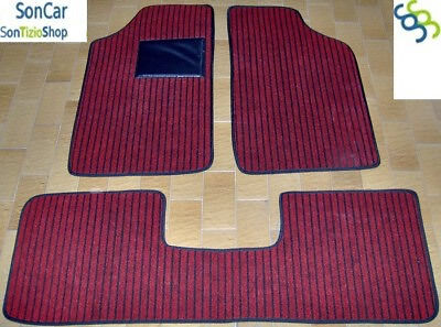 4 block PEUGEOT 205 TAPPETI tappetini AUTO Spessi 1cm