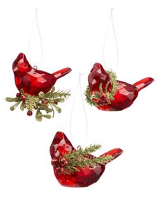 Choose Your Style Ganz Acrylic Cardinal Ornament KK383