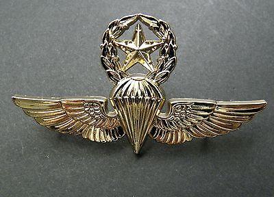 USMC USN NAVY MARINES PARATROOPER MASTER JUMP WINGS LAPEL PIN BADGE 2.75 INCHES