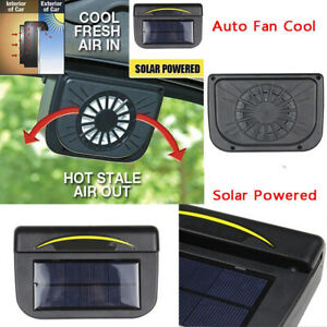 Home Improvement Home HVAC Appliances, Parts & Accessories Solar Powered Car Window Windshield Auto Air Vent Cooling Fan Cooler Radiator