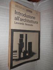 INTRODUZIONE ALL ARCHITETTURA Leonardo Benevolo Laterza 1966 Universale 40 libro