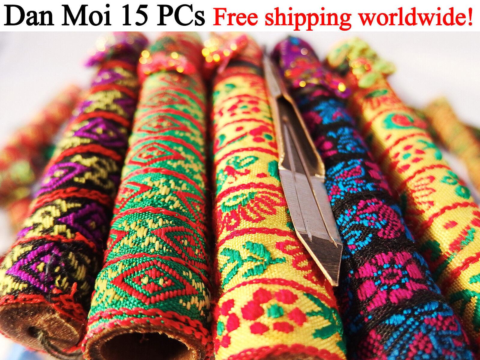 Dan Moi Set 15 PCs Vietnam Jews Harp - mouth lip musical instrument (jaw harp)