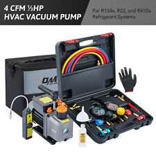 Hvac Automotive Ac Vacuum Pump W Leak Detector Amp Manifold Gauge Set 13 Hp 4 Cfm