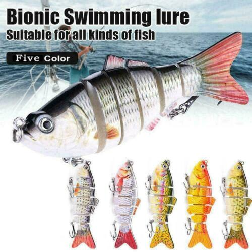 Six sections Bionic Swimming lure Suitable For all of fish New kinds R2G7 V1X2