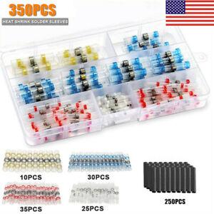 350PCS-Mix-Solder-Sleeve-Heat-Shrink-Butt-Waterproof-Splice-Wire-Connectors-Kit
