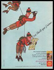 Publicité SHELL Alpinisme Alpiniste cordée Station Service vintage ad 1962 -6i