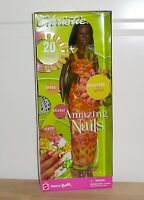Mattel Barbie Christie Amazing Nails Aa African American Doll 2001 53380