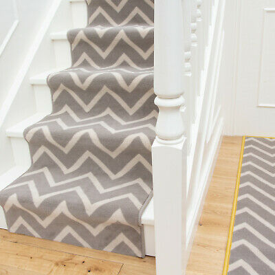 Long Modern Geometric Chevron Stair Carpet Hallway Runner Hall Stair Runners Rug