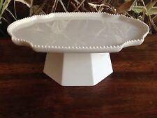 REICHENBACH Taste in weiß PAOLA NAVONE, edle ovale Platte auf Fuss - 27cm x 20cm