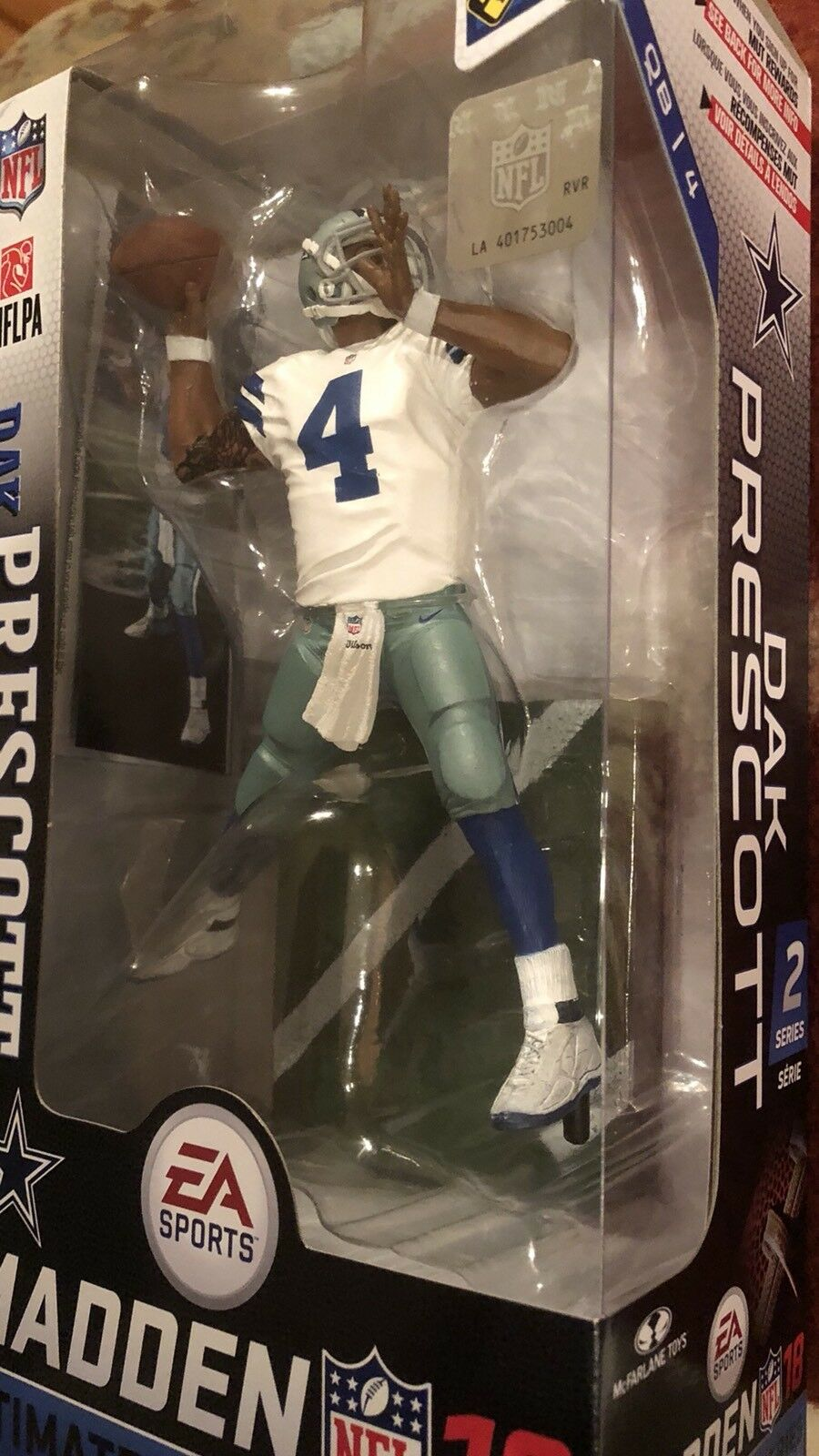 Dak Prescott Prescott Prescott Dallas Cowboys EA Sports Madden 18 series 2 McFarlane NFL MINT 7  64ca07