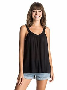 Neu-Roxy-Double-Dutch-Top-Damen-Traegertop-Tank-Top-true-black-schwarz-Gr-XS-L