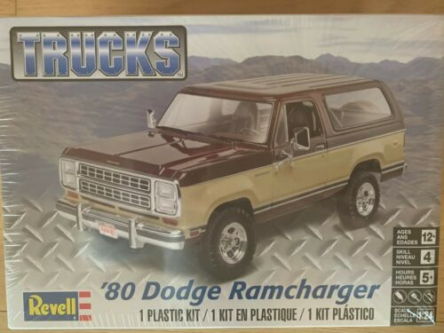 Revell US Monogram 1:24 1980 Dodge Ramcharger Model Kit 85-4372 14372 ++