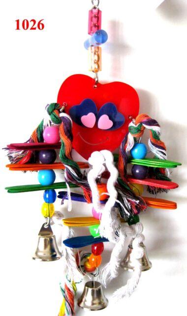 1026 HEARTY BIRD PARROT TOY cage toys cages cockatiel caique parakeet conure