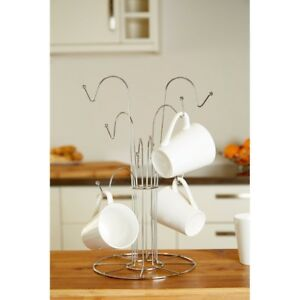 New-8-Cup-Mug-Tree-Holder-Chrome-Wire-Stand-Hanging-Drainer-Storage-Kitchen-Rack