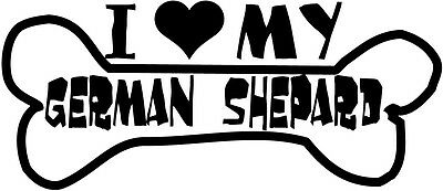 I Heart My German Shepard - Car Decal Window Sticker