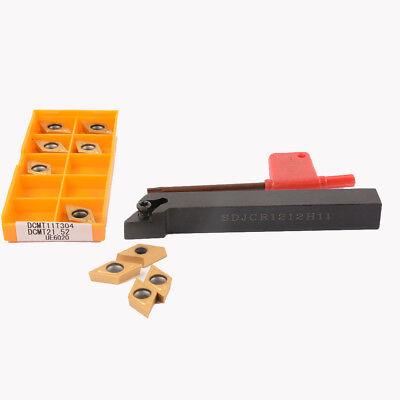 Boring Turning Tool Bar 10pcs DCMT11T304 Blade T15 Wrench Kit 16*100mm External
