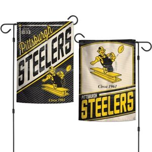 12 x 18-inches WinCraft NFL Pittsburgh Steelers 2-Sided Garden Flag