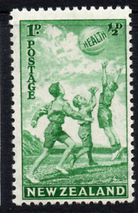 New-Zealand-1d-1-2d-Health-Stamp-c1940-Mounted-Mint-Hinged-3477