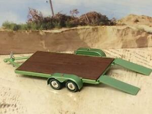 Car-Haul-Trailer-With-Tandem-Axles-amp-Removable-Ramps-1-64-Scale-Lim-Edt-H19