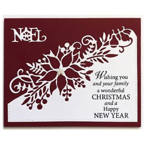 Cutting-Dies-Flower-Xmas-Christmas-Poinsettia-Greeting-Card-Craft-Frame-Metal