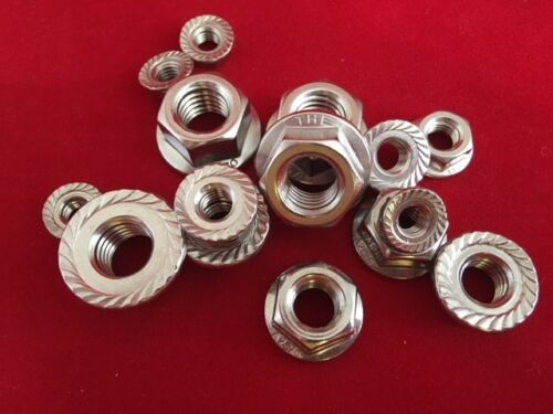 8 6 Stainless Steel Flange Nuts A2-304 To Fit Metric Bolts and Screws M5 10,