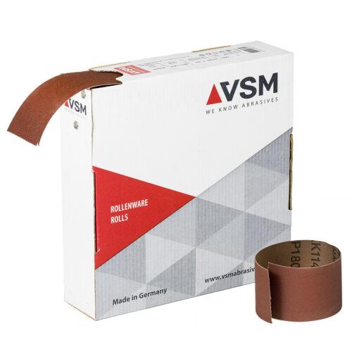 VSM Rouleau de Meulage Tissu Abrasif KK114F 50 M Largeur /& Granulométrie Choix
