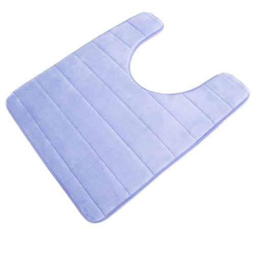 U-Shaped Non Slip Absorbent Thick Washable Floor Rugs Carpet for Sink Toilet USA