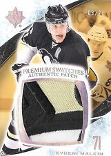 Evgeni Malkin 2010-11 Ultimate Collection Premium Swatches Jumbo Logo Patch 9/25