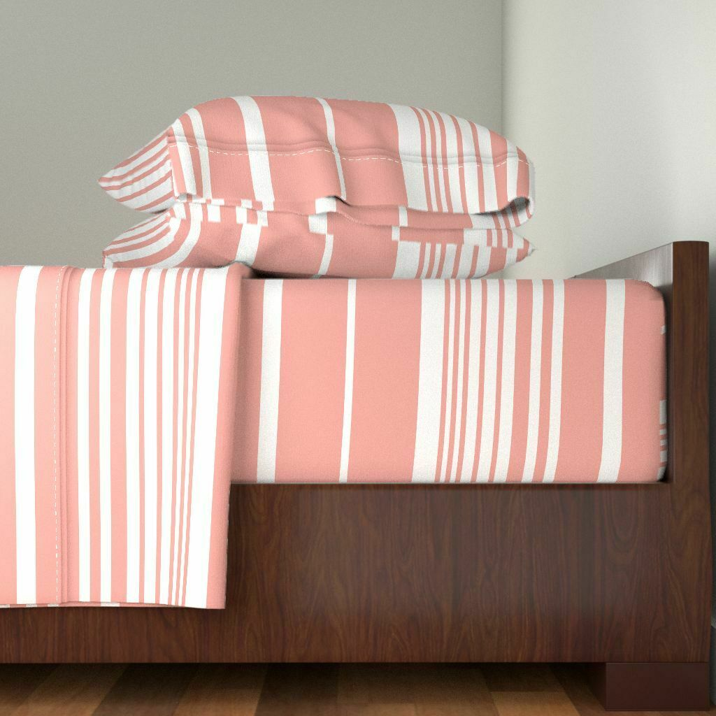 Scandinavian Style Nordic Stripes 100% Cotton Sateen Sheet Set by Roostery