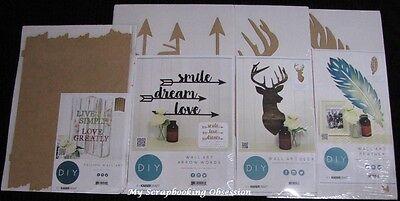You choose design Deer//Feather//Arrow KAISER Kaisercraft DIY /'WALL ART/' MDF BTP